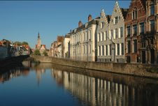 Bruges, Early Morning Stock Images