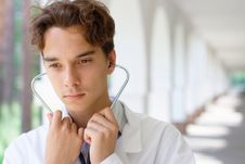 Free Young Serious Doctor Royalty Free Stock Image - 20536916