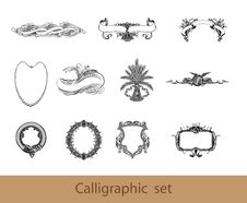 Free Calligraphic Set Elements Royalty Free Stock Photos - 20537078