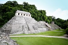 Temple Of Inscriptions, Palenque - Mexico Stock Image
