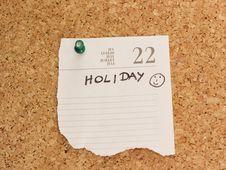 Free Holiday Reminder Royalty Free Stock Photography - 20537307