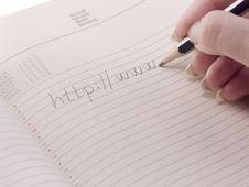 Free WWW Handwriting Stock Photos - 20537413