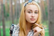 Free Portrait Of A Ypung Blonde Girl At The Park Stock Images - 20537504