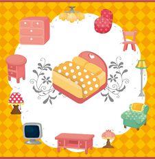 Free Cartoon Furniture Card Stock Photography - 20537512