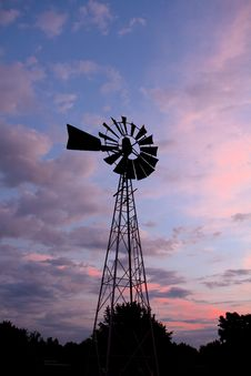 Free Old Windmill In Colorful Sunset. Royalty Free Stock Photo - 20537605