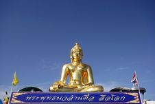 Free Big Golden Buddha Royalty Free Stock Photography - 20537657