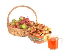 Free Reception Of Juice From Apples Stock Photos - 20537863