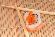Free Sushi With Chopsticks Royalty Free Stock Photography - 20538407