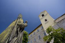 Free Statue And Church Of St.Nicholas In Kraljevica Royalty Free Stock Photo - 20538415