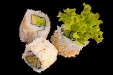 Free Sushi With Chopsticks Stock Photo - 20538420