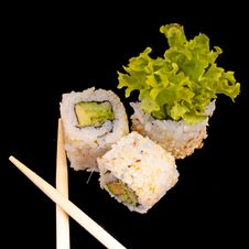 Free Sushi With Chopsticks Stock Image - 20538421