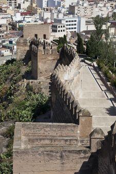 Free The Alcazaba Of Almeria Royalty Free Stock Photography - 20538657