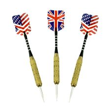 Free Darts With American And Britain Flags Stock Photo - 20538790