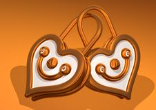 Love Smile Gold Heart Face Lock Stock Images