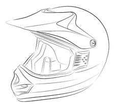 Motocross Helmet Drawing Stock Photography