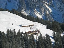 Winter In Swiss Alps Stock Image