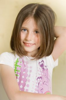 Portrait Of A Smiling Girl Stock Photography