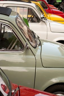Classic Small Cars Stock Photography
