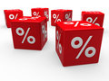 Free 3d Red Sale Cube Percentage Royalty Free Stock Photos - 20544138