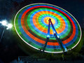 Free Ferris Wheel Rotates At Night Royalty Free Stock Photo - 20546385