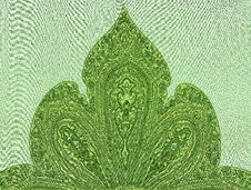 Free Oriental Ornamented Textile Royalty Free Stock Image - 20540316