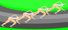 Illustration Of Athletes Royalty Free Stock Photo