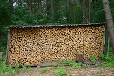 Free Firewood Combined Under A Roof Stock Photo - 20540740