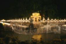 Chitralada Palace At Night Royalty Free Stock Photo