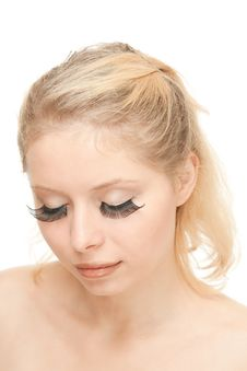 8d97d77a0f8 Free Blond Woman With Long Eyelashes Royalty Free Stock Photos - 20541498