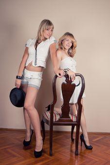 Free Two Retro Girl Stock Photos - 20541633