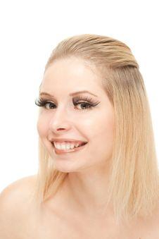 Free Smiling Blond With Lengthen Eyelashes Stock Image - 20541751