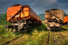 Free Freight Trains HDR Royalty Free Stock Photos - 20541988