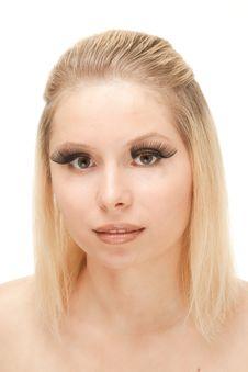 Free Beautiful Blond With Lengthen Eyelashes Royalty Free Stock Photo - 20542085
