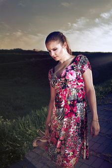 Free Portrait Of Woman In Variegated Sundress Stock Photo - 20542190