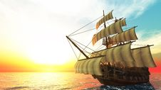 Free Sailing Boat Royalty Free Stock Image - 20542786