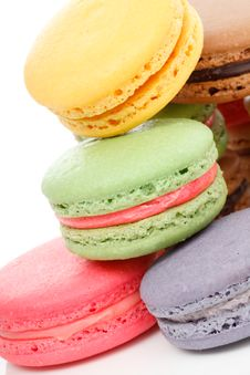 Fresh Baked Macaroons Royalty Free Stock Photo