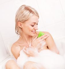 Free Woman Taking A Bath Stock Photography - 20543842