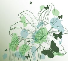 Free Background With Decorative Flower Royalty Free Stock Images - 20544139
