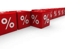 3d Red Sale Cube Percentage Stock Images