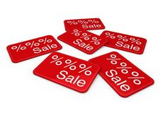 Free 3d Sale Card Red Stock Images - 20544254
