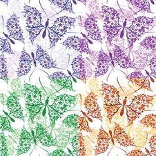 Free Seamless Pattern With Butterflies Stock Photo - 20544620