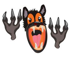 Free Bared Mouth Of The Wolf On White Background Stock Photos - 20544653