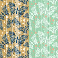 Free Seamless Pattern With Butterflies Royalty Free Stock Photos - 20544698