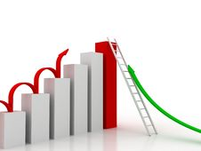 Free Business Graph Of Success Stock Photo - 20545230