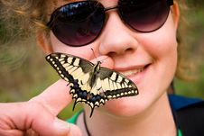 Free Girl With Butterfly Stock Photography - 20545312