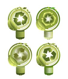 Free Green Recycle Light Bulbs Stock Photo - 20545580