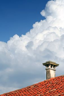 Chimney On The Roof Royalty Free Stock Images