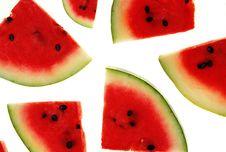 Free Watermelon Slices Royalty Free Stock Photo - 20545865