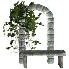 Free Stone Bench With Ivy Royalty Free Stock Images - 20546319