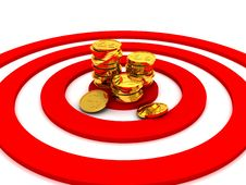 Money Target Concept Illustration Stock Image